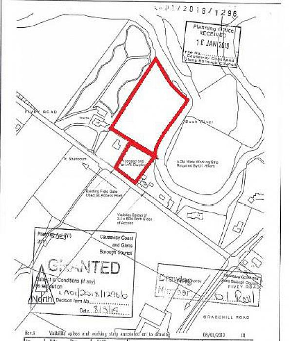 Site together with field adj. to 125 Fivey Road, Stranocum, Ballymoney