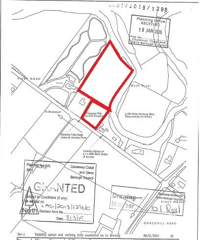 Site together with field adj. to 125 Fivey Road